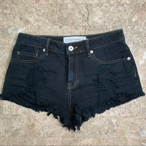 Gypsy Warrior Distressed Jean Shorts Size 1